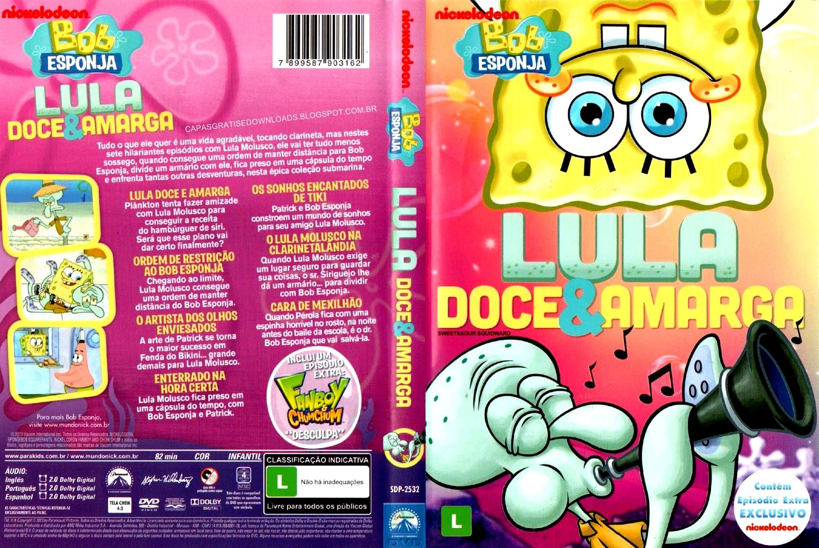 Bob Esponja: Lula Doce e Amarga DVD Capa e Download Dublado + DVD-R