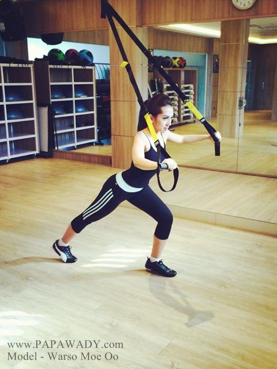 Myanmar Model Warso Moe Oo in Gym Photoshoot