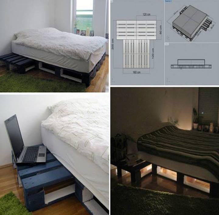 Como hacer una cama con palets de madera c 243 mo hacer for Como hacer una cama de madera
