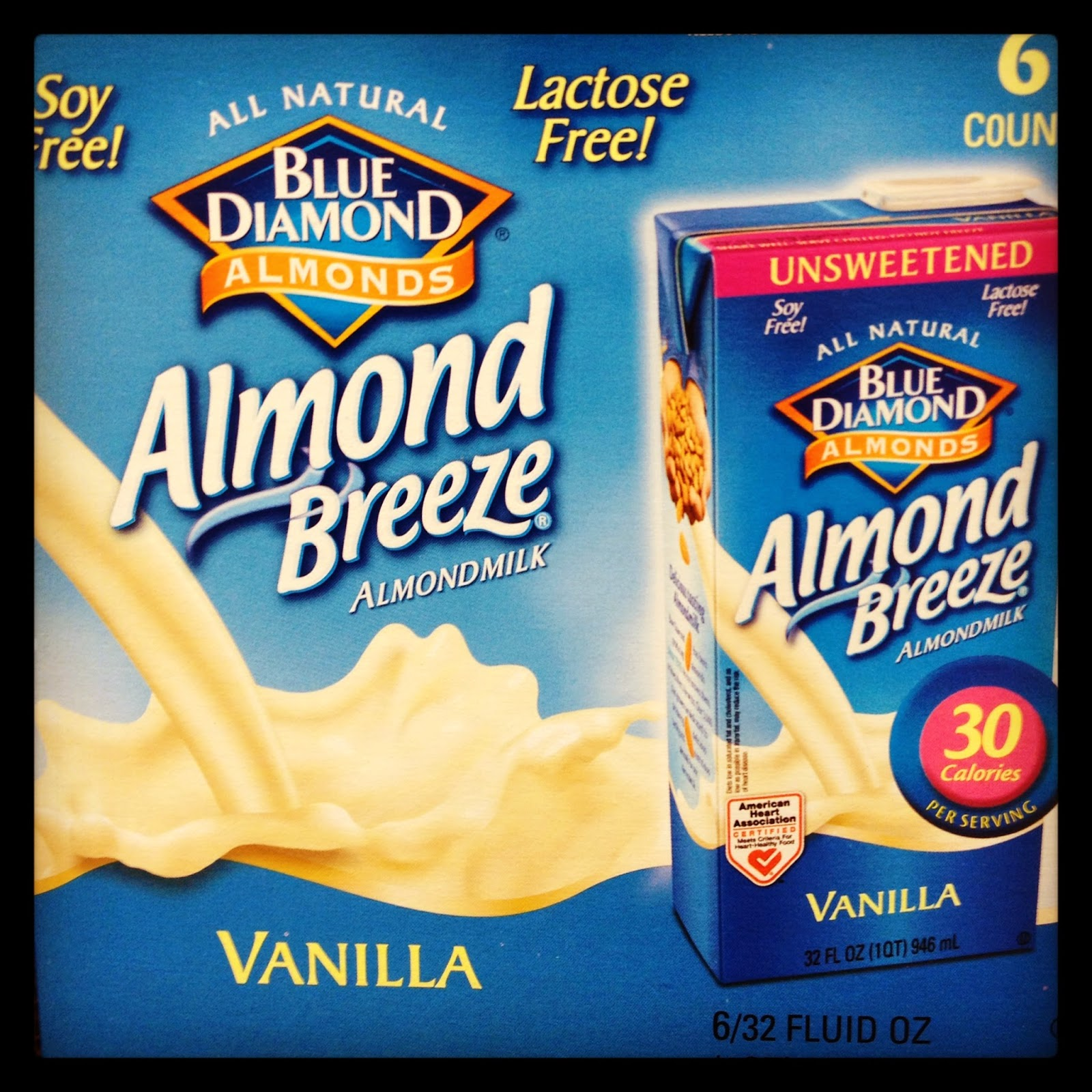 Unsweetened Vanilla Almond Breeze Almond Milk Vegan Costco