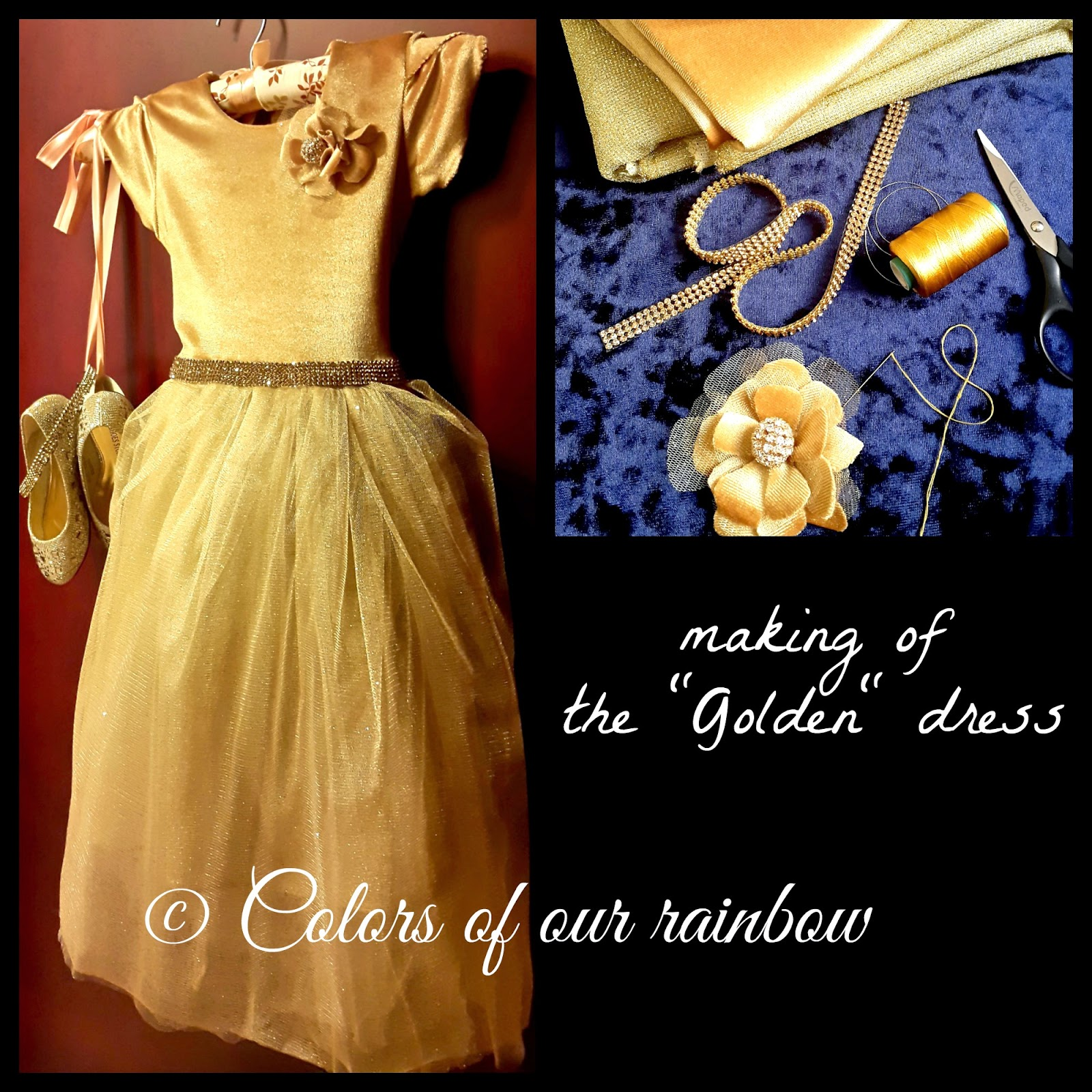 diy gold princess birthday dress for 4 year old