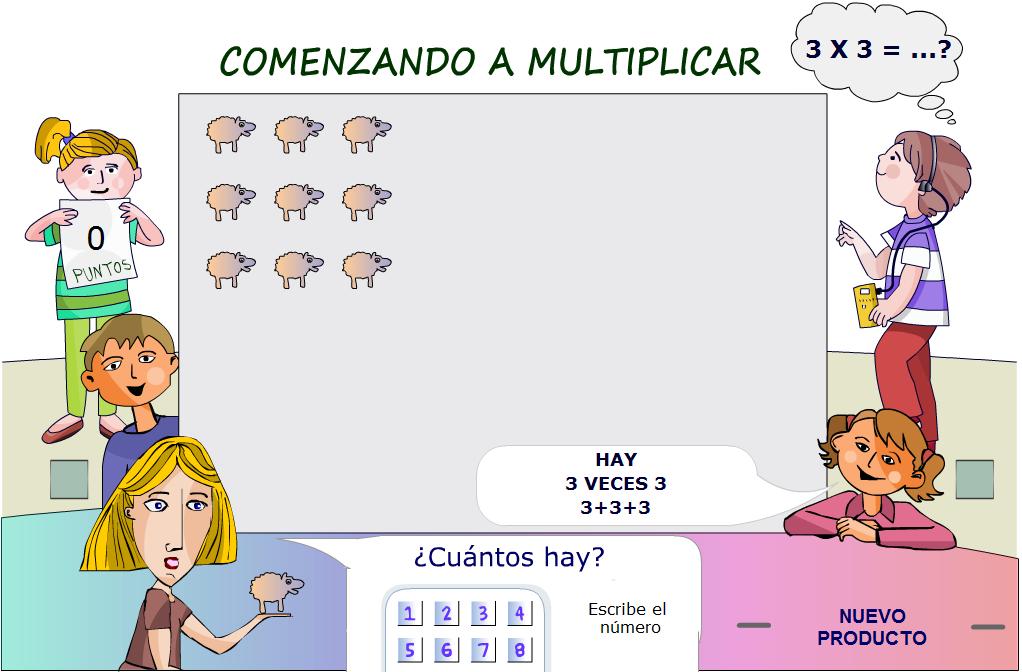 http://www.primerodecarlos.com/SEGUNDO_PRIMARIA/febrero/tema3/actividades/mates/iniciacion_multiplicacion.swf