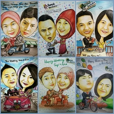 Caricature Happy Wedding Day
