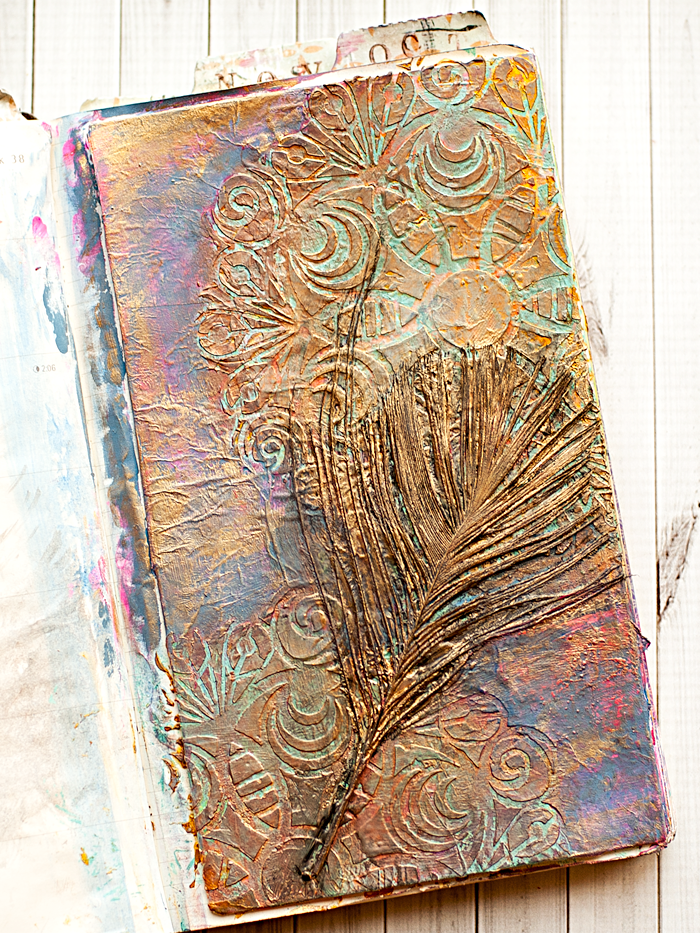 """feather"" page for Week 38's prompt from The Documented Life Planner Project #mixedmedia #moleskine #artjournal"