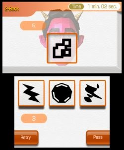 3DS Brain Age Concentration Training Screenshot