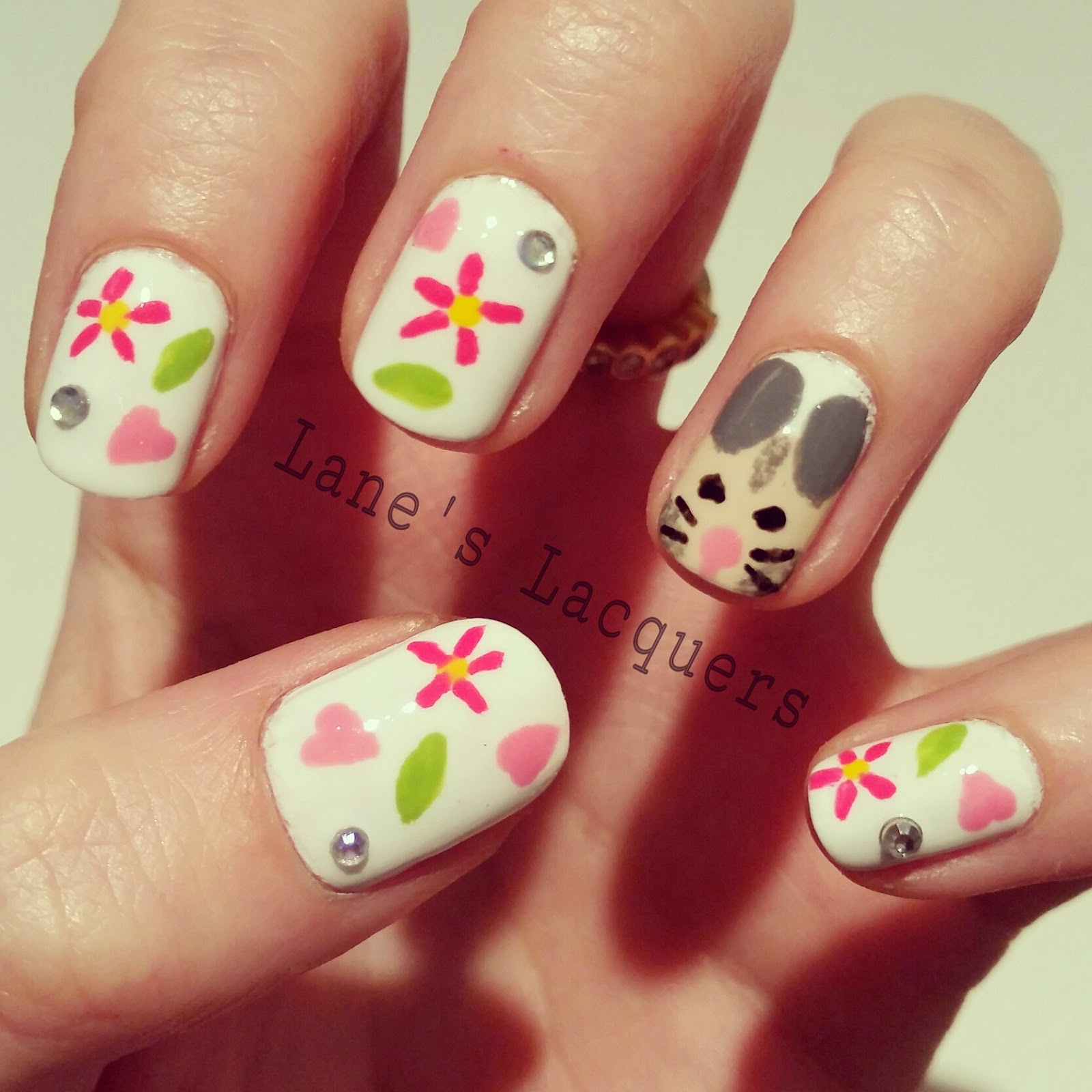 barry-m-hand-painted-happiness-hamster-love-flowers-sparkle-nail-art