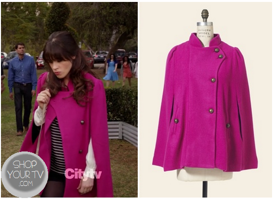 New Girl: Season 2 Episode 18 Jess&39s Pink Cape Coat |