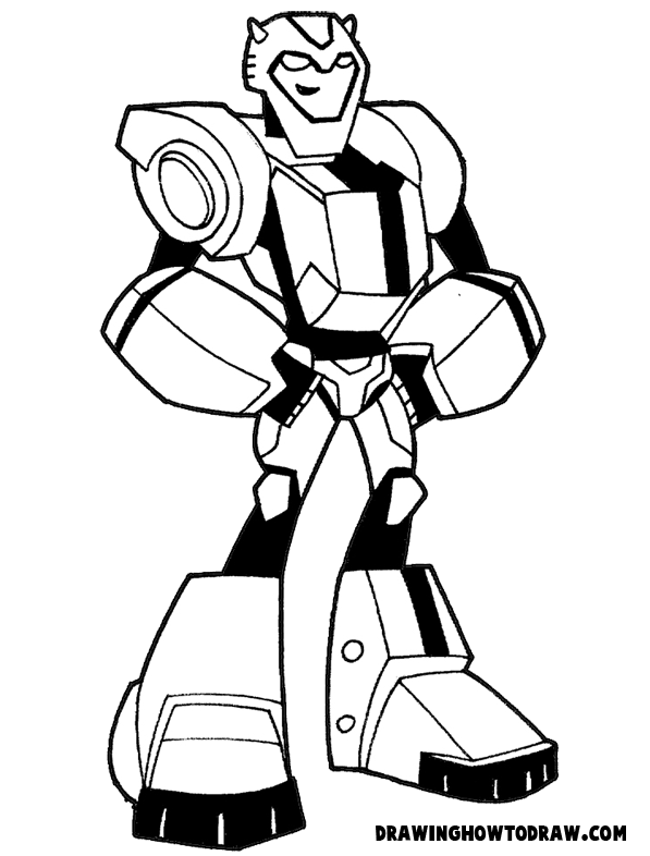 Cartoons Coloring Pages Transformers Coloring Pages Bumblebee Transformers Bumblebee Coloring Sheet