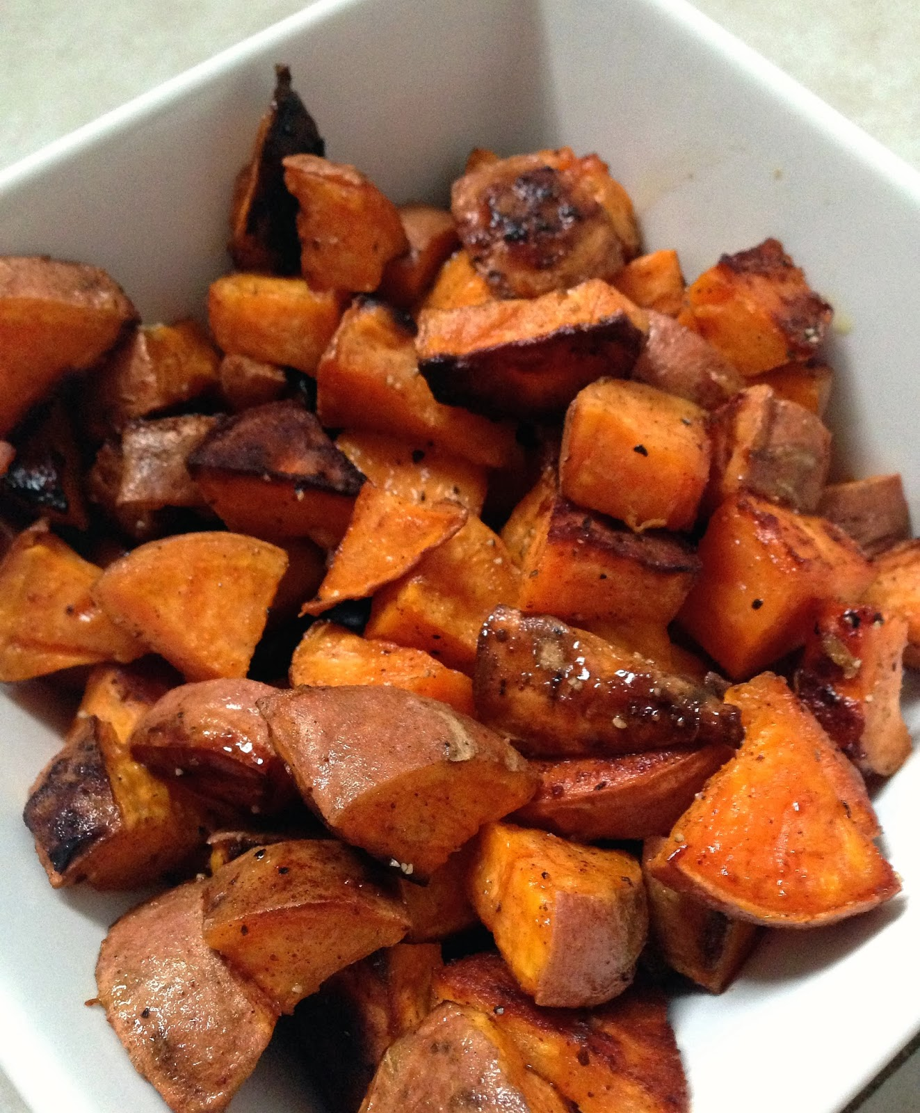 taylor made: coconut oil & honey roasted sweet potatoes