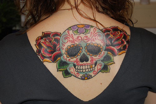 skull tattoos girls