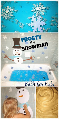 Frosty the Snowman Bath for Kids