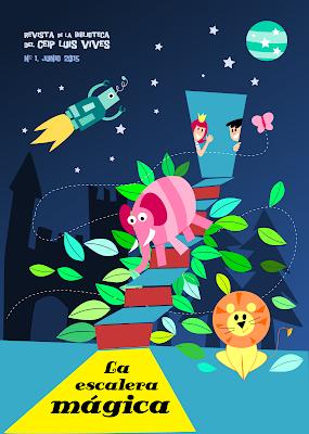 esposa embajador diseño extremadura ilustracion badajoz escalera magica portada revista biblioteca robot león elefante