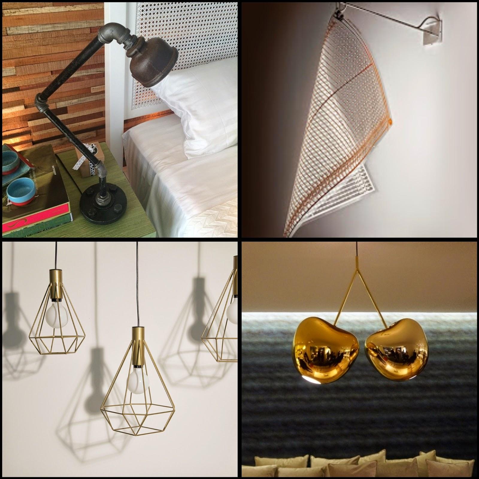 luminárias de mesa diferentes