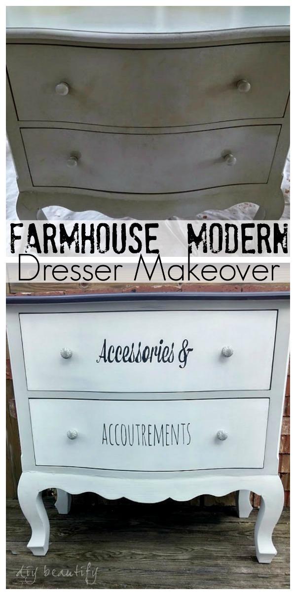 dresser makeover DIY beautify