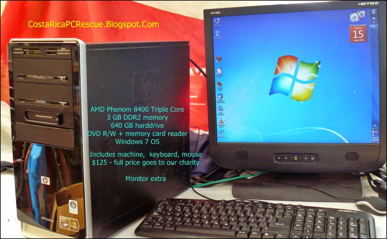 HP desktop with triple-core processor for sale