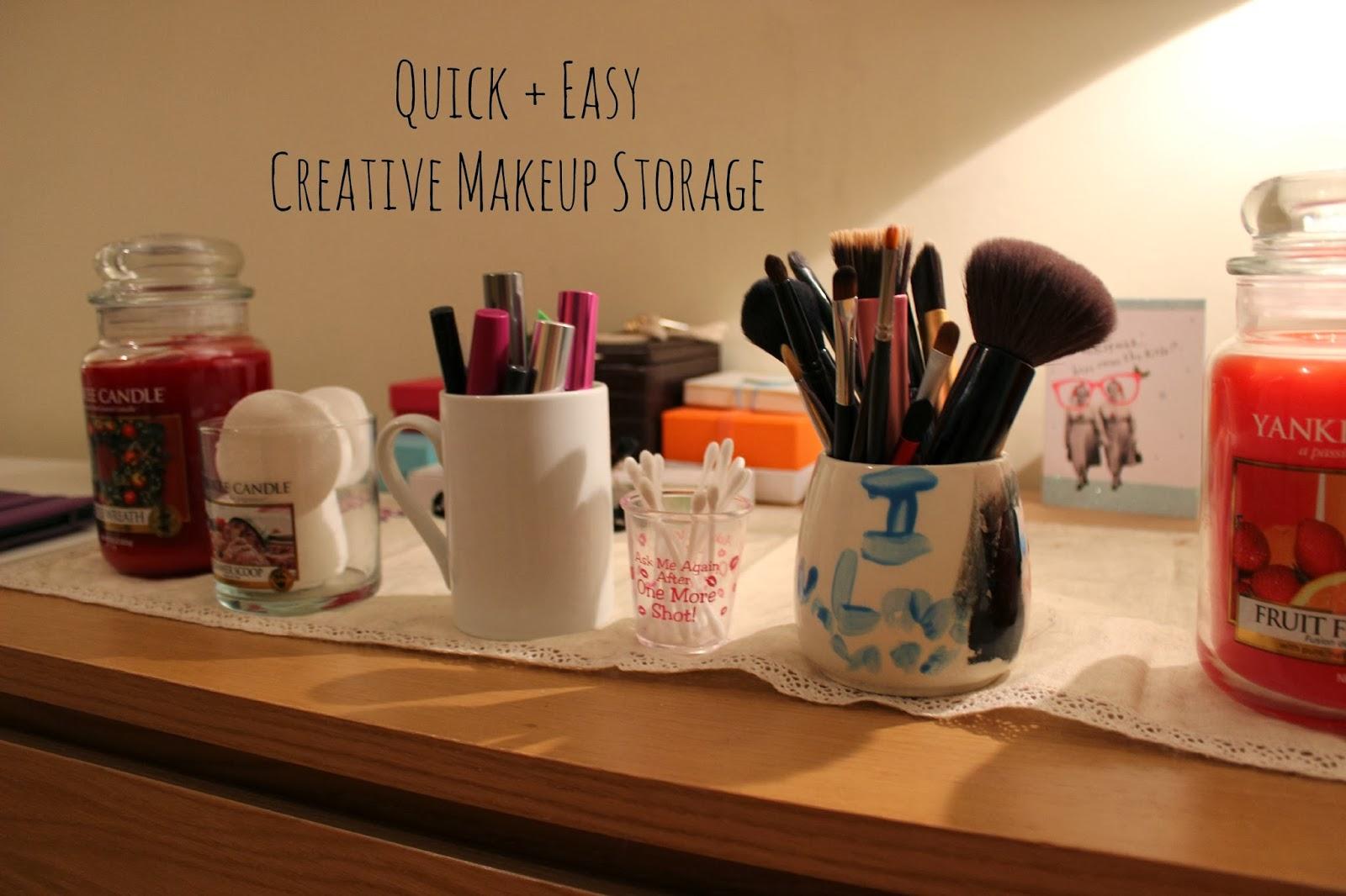 Creative Makeup Storage Creative Makeup Storage