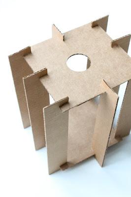 Cómo hacer lámpara de cartón