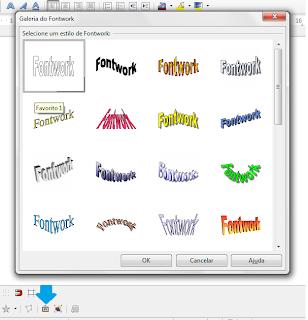 Adicionando um estilo Fontwork