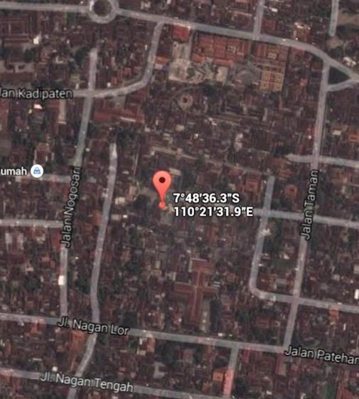 Koordinat Lokasi Taman Sari_siparjo