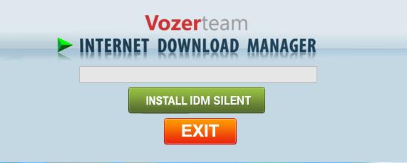 chọn Install IDM Silent là chỉ trong vài giây
