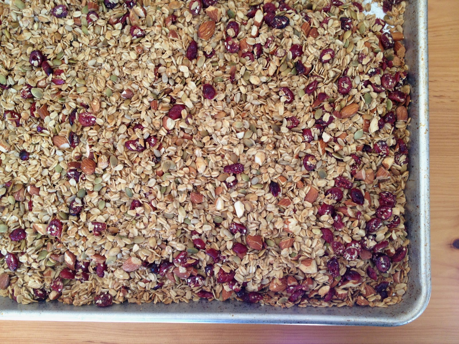 let granola cool after removing it from the oven