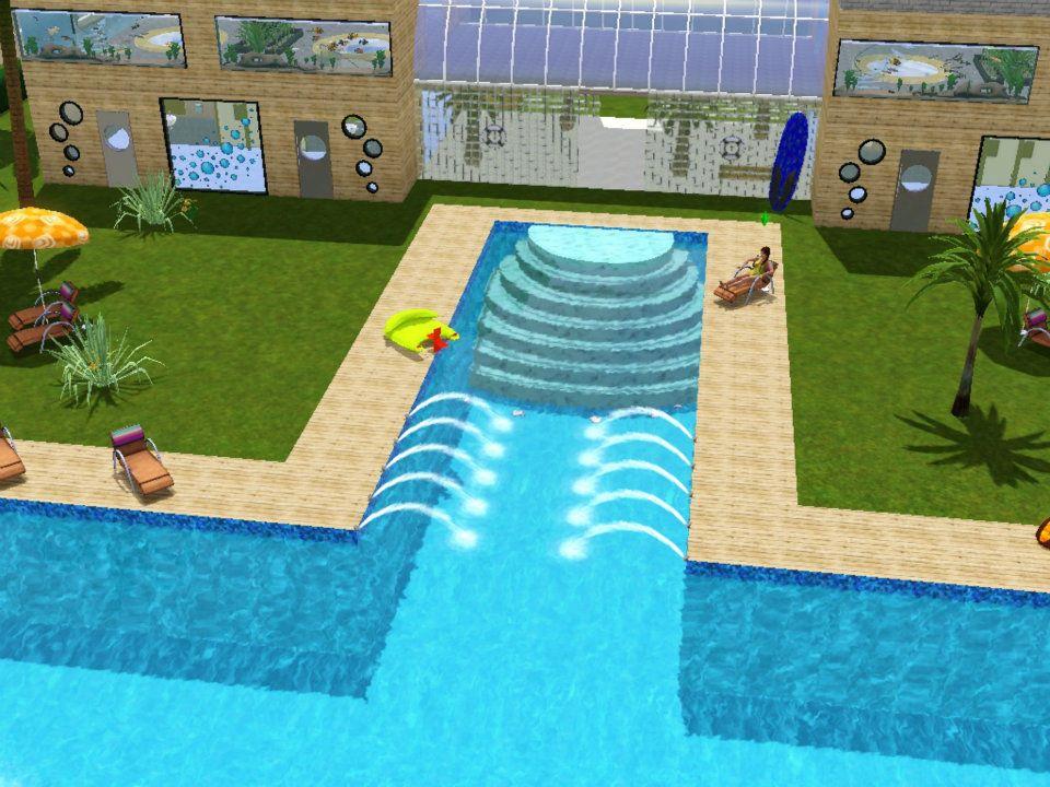 Sims 3 cr ations piscine municipale la playa for Sims 4 piscine a debordement