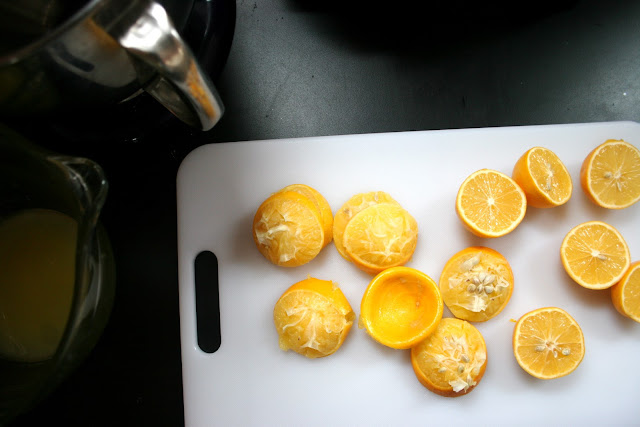 Meyer Lemons on Cutting Board