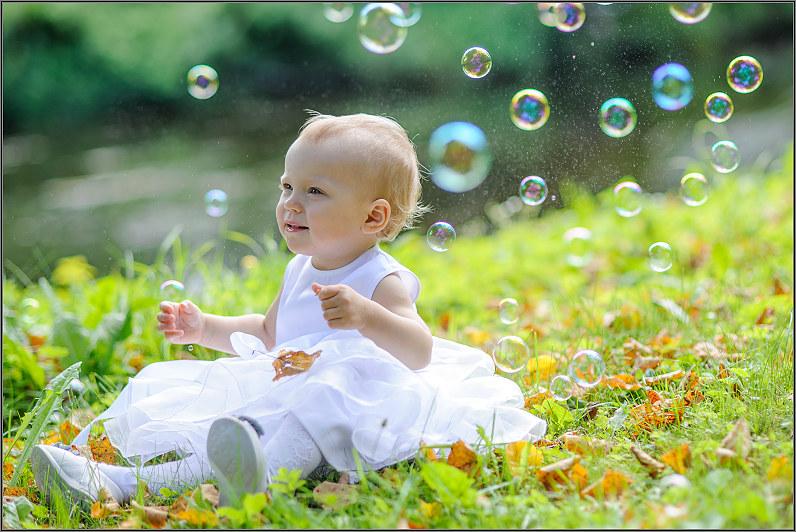 krikštynų fotosesija su burbulais