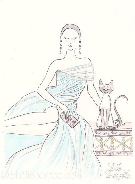Fashion and fluffballs illustration : Aqua and the Orient © Shell-Sherree