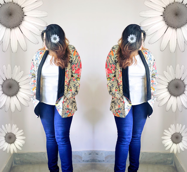 daisies and floral blazer