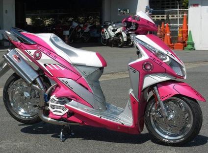 motor berikut gambar foto modifikasi motor terbaru honda vario techno title=