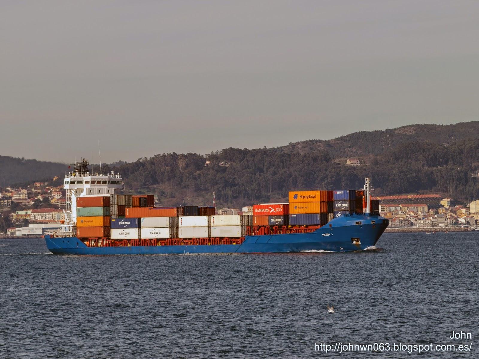 fotos de barcos, imagenes de barcos, herm j, container ship, contenedores, vigo