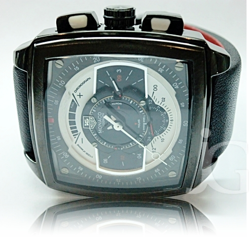 TAG HEUER MONACO CHRONOGRAPH OF SECOND LEATHER Rp 300000