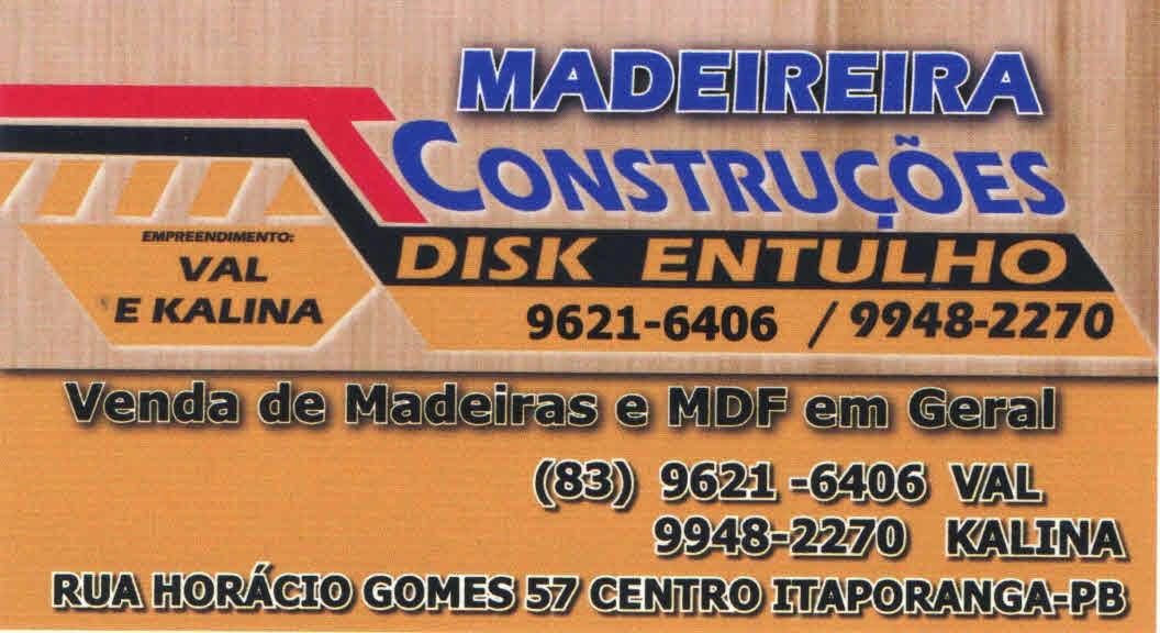MADEIREIRA T CONSTRUÇÕES | DISK ENTULHO