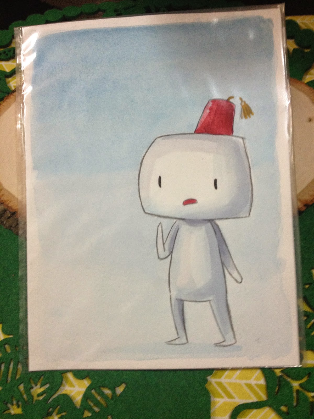Fez, watercolor