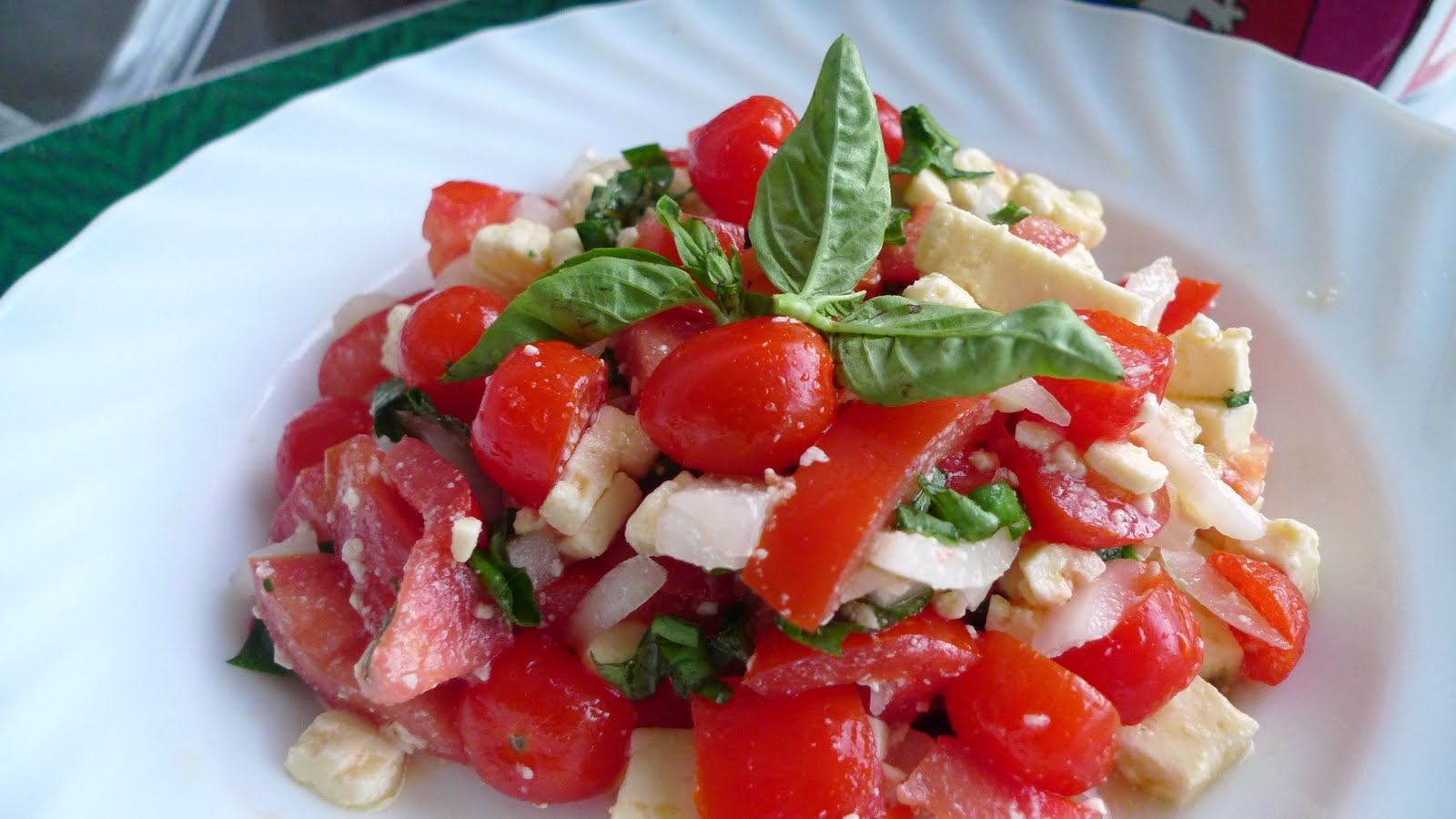Tomato, basil and feta salad | munchin' in manila