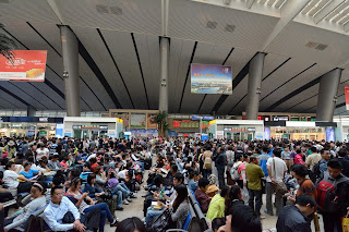 Beijing South rail station during National Day holiday