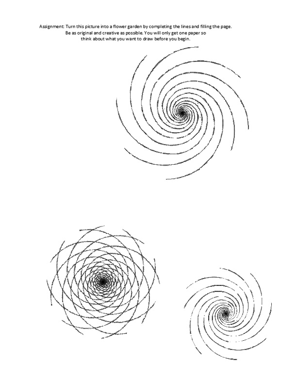 The Helpful Art Teacher THE SPIRAL – Op Art Worksheet