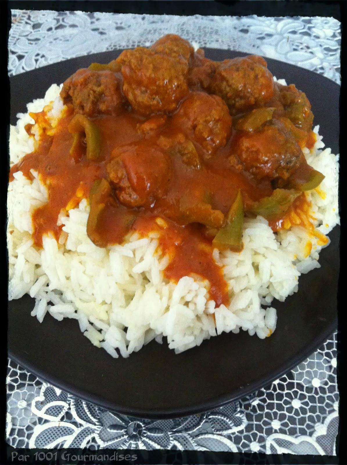 riz et ses boulettes en sauce tomate au curry blogs de cuisine. Black Bedroom Furniture Sets. Home Design Ideas