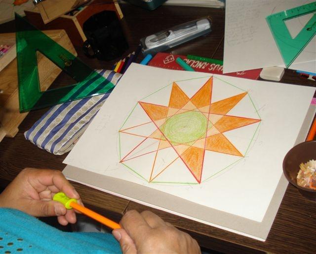 Soluna Arte-Sanía: Década - Decágono - Estrella de diez puntas