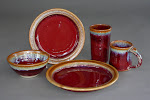 Copper red pottery