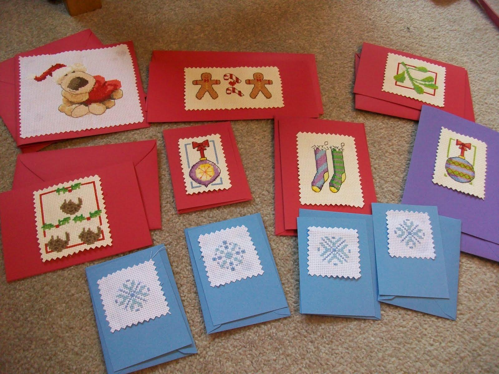 Cardigangirlverity Cross Stitch Christmas Cards