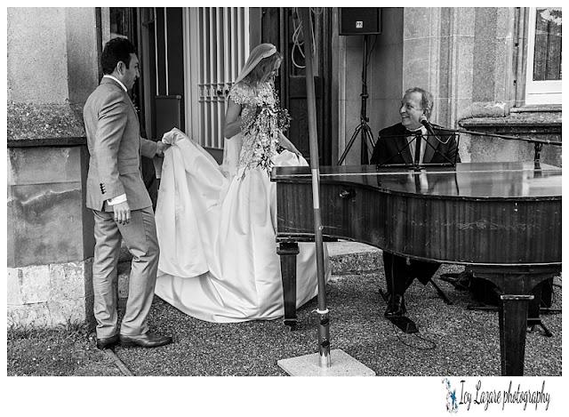 Bride at a piano