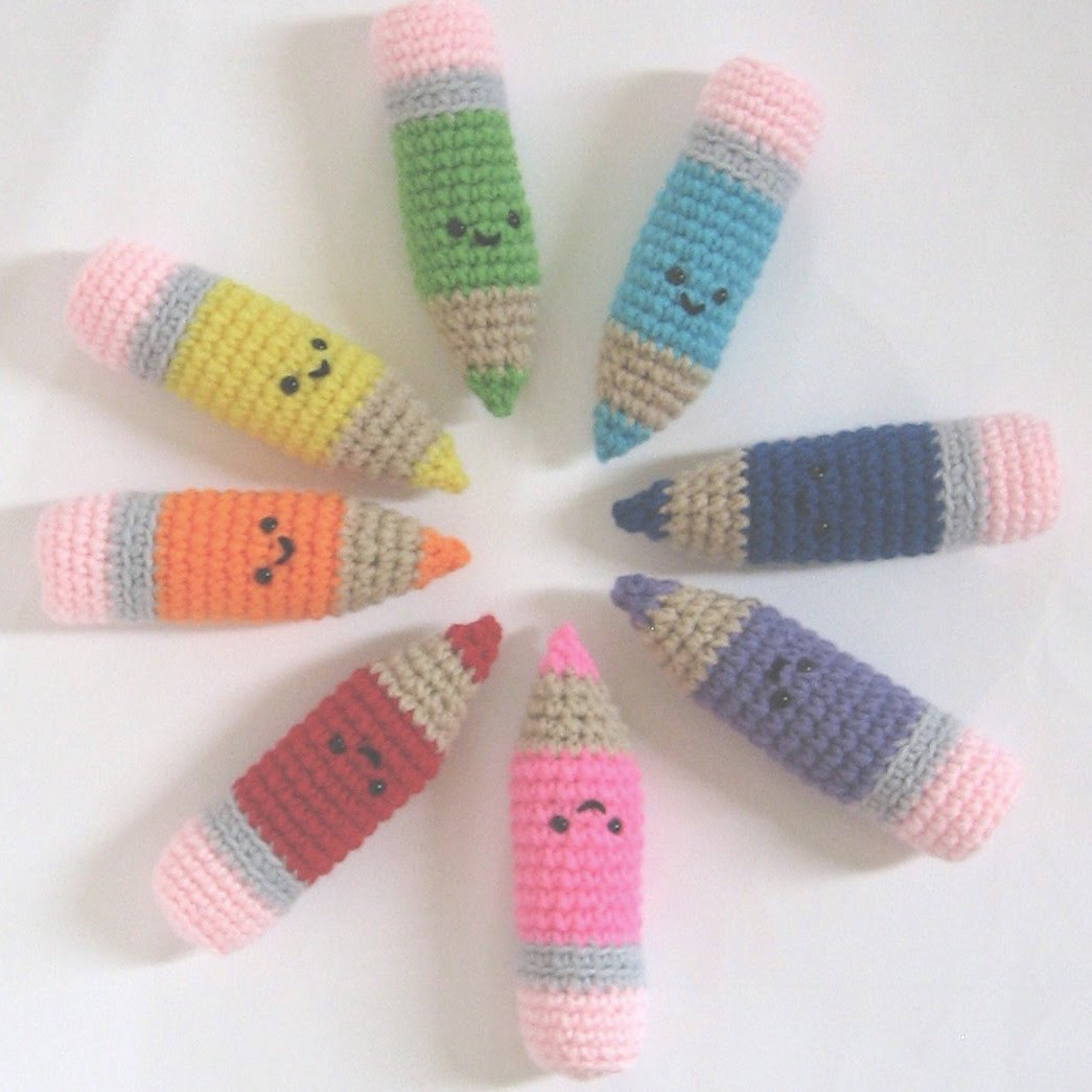 Easy Amigurumi Cute : CROCHET N PLAY DESIGNS: Free Crochet Pattern: Colored Pencils