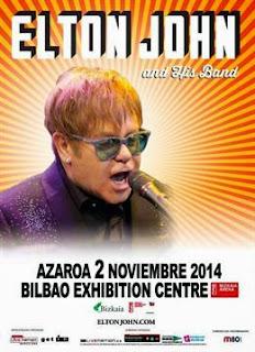 Elton John en Bilbao en Noviembre
