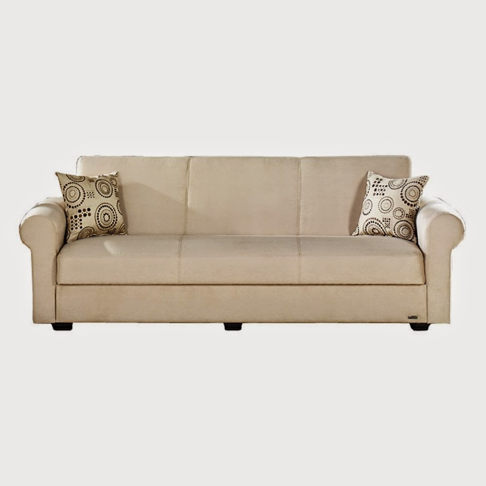 Sofa Bed Click Clack Brown Smart