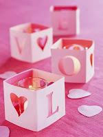 Свети Валентин украса за свещи