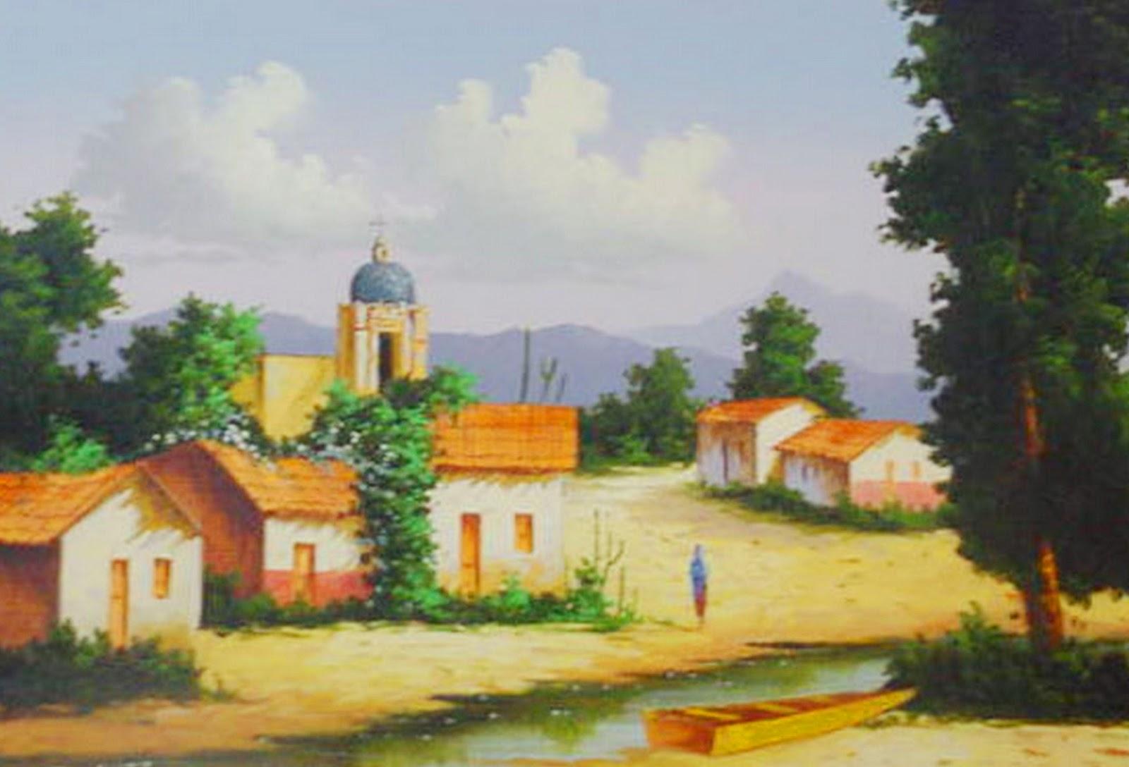paisajes mexicanos pintados al oleo