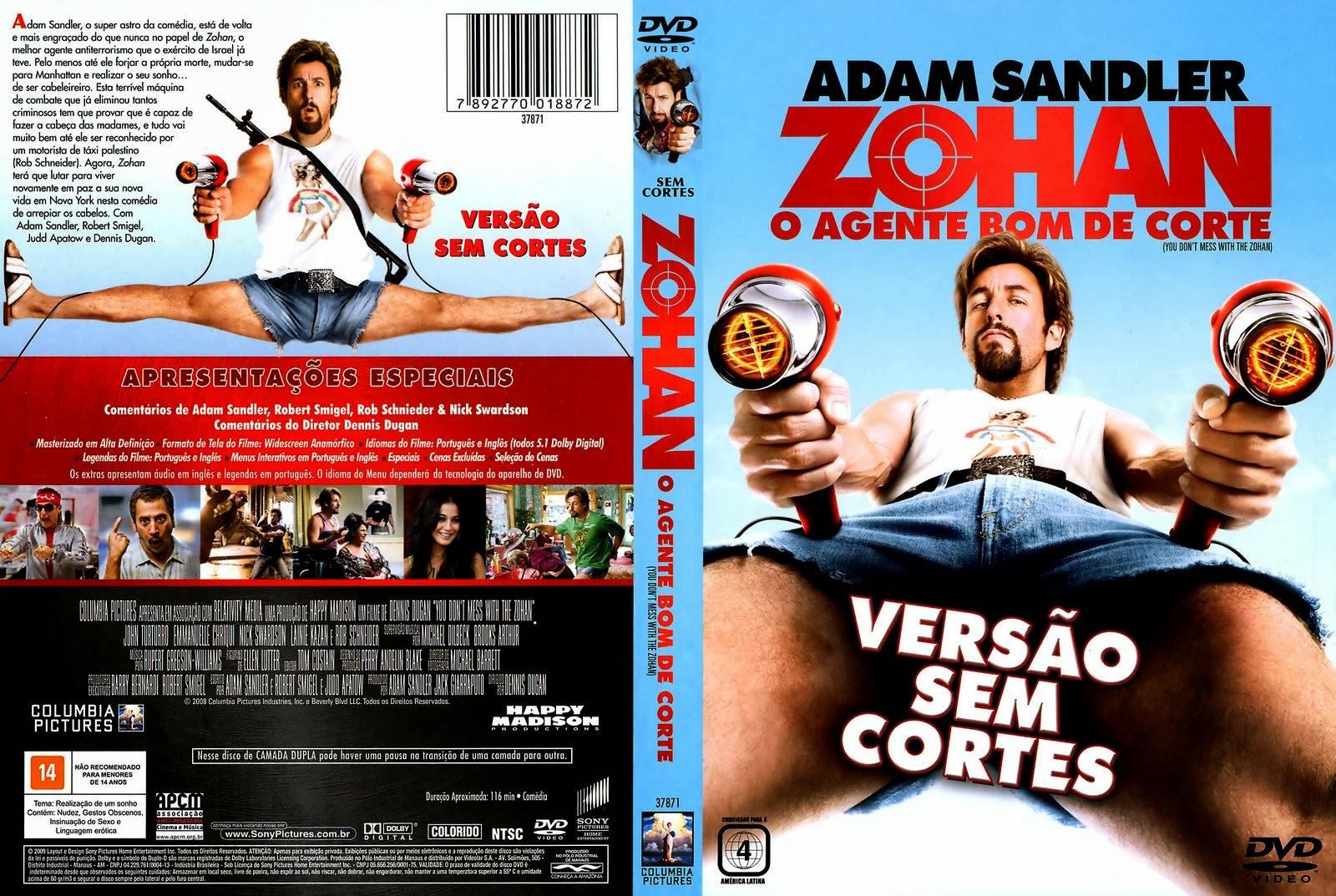 Zohan O Agente Bom De Corte DVD Capa