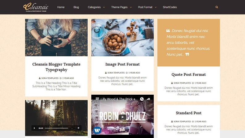 free download download cleansis responsive awesome masonry
